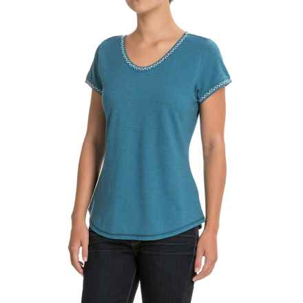 Royal Robbins Flynn Boat Neck T-Shirt - Hemp-Organic Cotton, Short Sleeve (For Women) in Wave - Closeouts