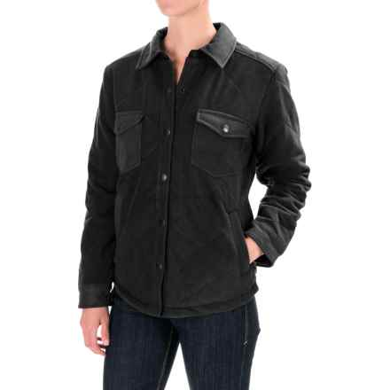 Royal Robbins Foxtail Fleece Shirt Jacket - UPF 50+ (For Women) in Jet Black - Closeouts