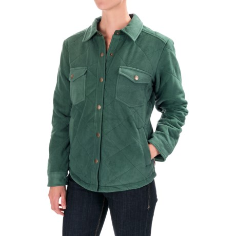 Royal Robbins Foxtail Fleece Shirt Jacket - UPF 50+ (For Women) in Spruce