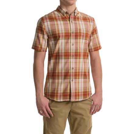 Royal Robbins Go Everywhere Oxford Plaid Shirt - UPF 50+, Short Sleeve (For Men) in Salsa - Closeouts