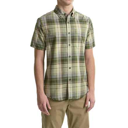 Royal Robbins Go Everywhere Oxford Plaid Shirt - UPF 50+, Short Sleeve (For Men) in Spanish Moss - Closeouts