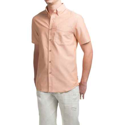 Royal Robbins Go Everywhere Oxford Shirt - UPF 50+, Short Sleeve (For Men) in Acorn - Closeouts
