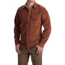 Royal Robbins Grid Cord Shirt - UPF 50+, Long Sleeve (For Men) in Dark Ember - Closeouts
