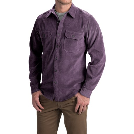 Royal Robbins Grid Cord Shirt - UPF 50+, Long Sleeve (For Men) in Plumperfect