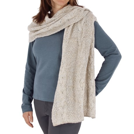 Royal Robbins Helium Wrap Scarf (For Women) in Oatmeal