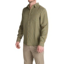 Royal Robbins Hemlock Herringbone Shirt - UPF 50+, Long Sleeve (For Men) in Fatigue Green - Closeouts