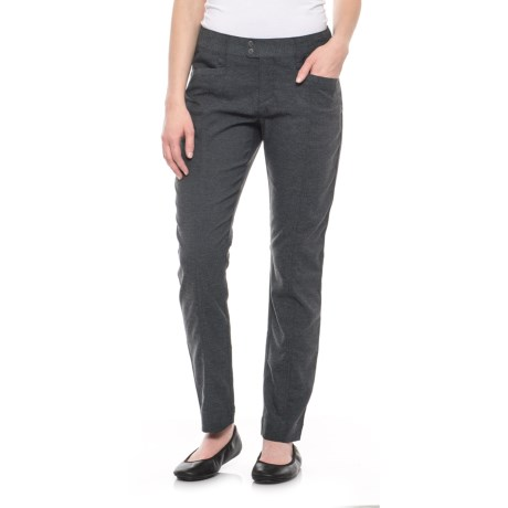 Royal Robbins Herringbone Discovery Pencil Pants - UPF 50+ (For Women) in Charcoal