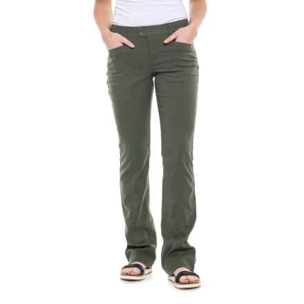 Royal Robbins Herringbone Discovery Strider Pants - UPF 50+ (For Women) in Climbing Ivy - Closeouts