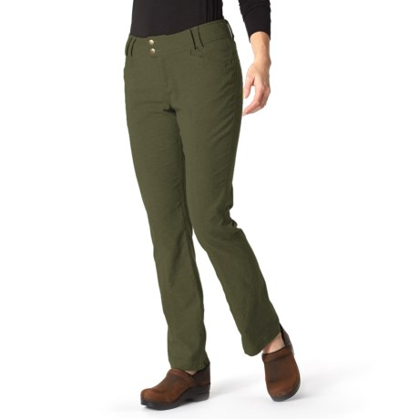 Royal Robbins Herringbone Discovery Strider Pants - UPF 50+ (For Women) in Dark Olive