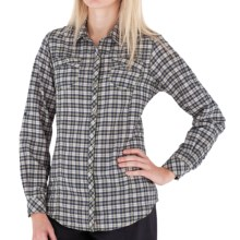 Royal Robbins High Noon Plaid Shirt - Long Sleeve (For Women) in Midnight - Closeouts
