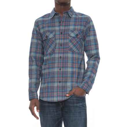 Royal Robbins High-Performance Plaid Flannel Shirt - UPF 50+, Long Sleeve (For Men) in Poseidon - Overstock