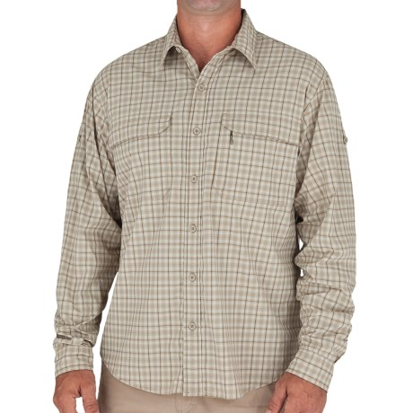 Royal Robbins High-Performance Plaid Shirt - UPF 30+, Long Sleeve (For Men) in Khaki