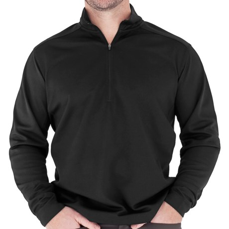 Royal Robbins High-Performance Waffle Sweater - UPF 50+, Zip Neck, Long Sleeve (For Men) in Jet Black