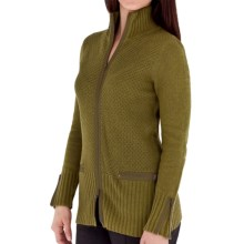 Royal Robbins Highland Zip Cardigan Sweater (For Women) in Thistle Green - Closeouts