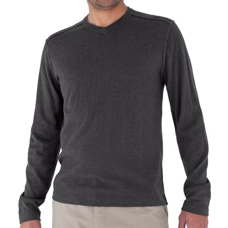 Royal Robbins Horizon Solid Sweater - V-Neck, Long Sleeve (For Men) in Charcoal