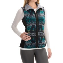 Royal Robbins Inca Jacquard Vest - UPF 50+, Full Zip (For Women) in Jet Black - Closeouts