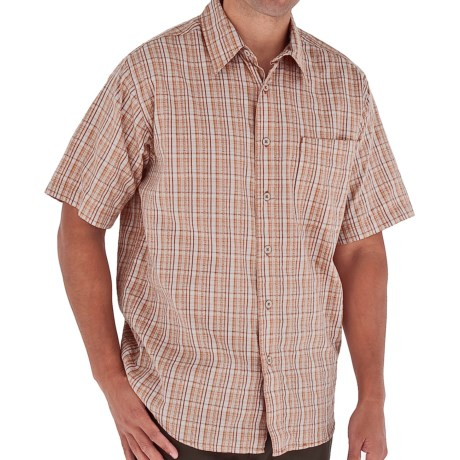 Royal Robbins Jasper Shirt - Organic Cotton-Rich, Short Sleeve (For Men) in Arizona Orange