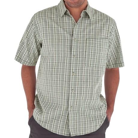 Royal Robbins Jasper Shirt - Organic Cotton-Rich, Short Sleeve (For Men) in Sunset Orange