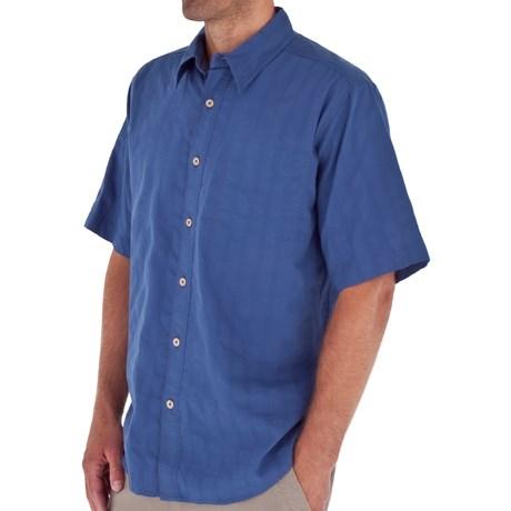 Royal Robbins Jasper Shirt - Organic Cotton-Rich, Short Sleeve (For Men) in Marine