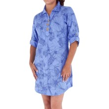 Royal Robbins Kalahari Dress - Cool Mesh, 3/4 Roll-Up Sleeve (For Women) in Salvia Blue - Closeouts