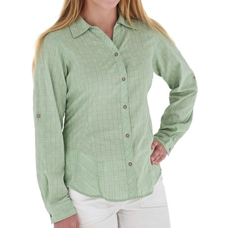 Royal Robbins Kalahari Shirt - CoolMax®, Long Sleeve (For Women) in Agave