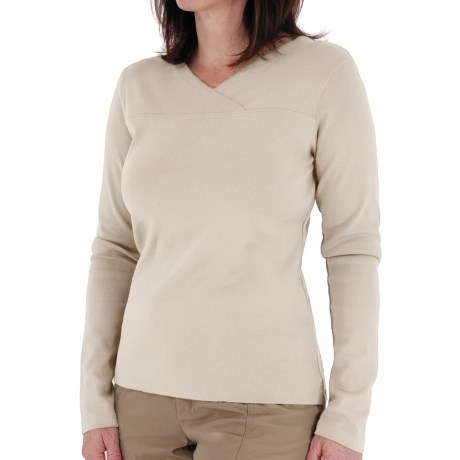 Royal Robbins Kick Back Crossover Shirt - Long Sleeve (For Women) in Crème