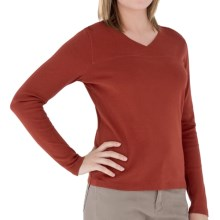 Royal Robbins Kick Back Crossover Shirt - Long Sleeve (For Women) in Ember - Closeouts
