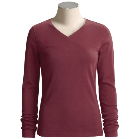 Royal Robbins Kick Back Crossover Shirt - Long Sleeve (For Women) in Fig