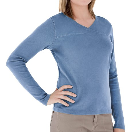 Royal Robbins Kick Back Crossover Shirt - Long Sleeve (For Women) in Waterfall