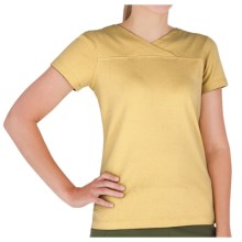 Royal Robbins Kick Back Crossover Shirt - UPF 50+, Short Sleeve (For Women) in Straw - Closeouts