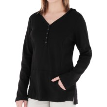 Royal Robbins Kick Back Hoodie Shirt - UPF 50+, Long Sleeve (For Women) in Jet Black - Closeouts