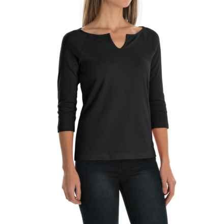 Royal Robbins Kick Back Micro-Rib Shirt - UPF 50+, 3/4 Sleeve (For Women) in Charcoal - Closeouts