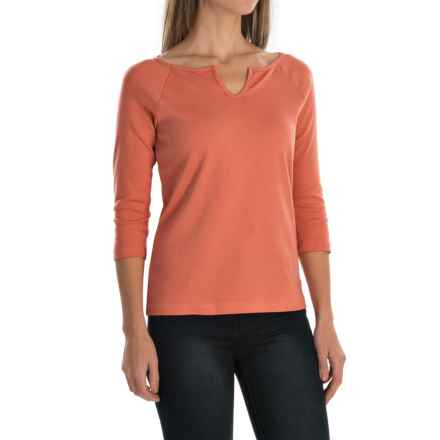 Royal Robbins Kick Back Micro-Rib Shirt - UPF 50+, 3/4 Sleeve (For Women) in Persimmon - Closeouts