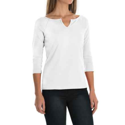 Royal Robbins Kick Back Micro-Rib Shirt - UPF 50+, 3/4 Sleeve (For Women) in White - Closeouts