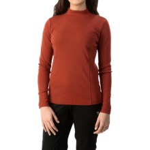 Royal Robbins Kick Back Mock Neck Shirt - UPF 50+, Long Sleeve (For Women) in Dark Ember - Closeouts