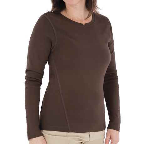 Royal Robbins Kick Back Shirt - UPF 50+, Long Sleeve (For Women) in Turkish Coffee