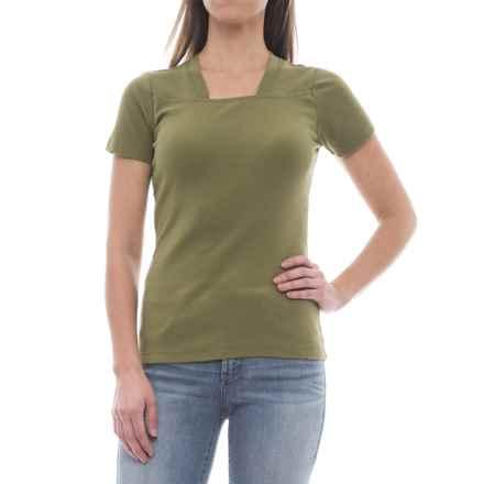 Royal Robbins Kick Back Shirt - UPF 50+, Short Sleeve (For Women) in Eucalyptus - Closeouts