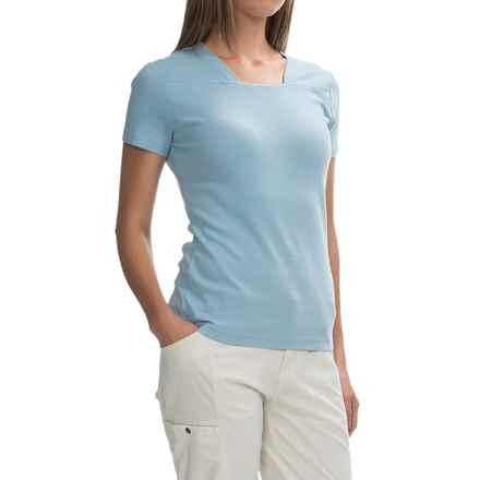 Royal Robbins Kick Back Shirt - UPF 50+, Short Sleeve (For Women) in Rain - Closeouts
