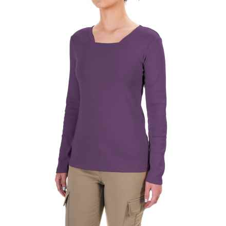 Royal Robbins Kick Back Square Neck Shirt - UPF 50+, Long Sleeve (For Women) in Dark Violet - Closeouts