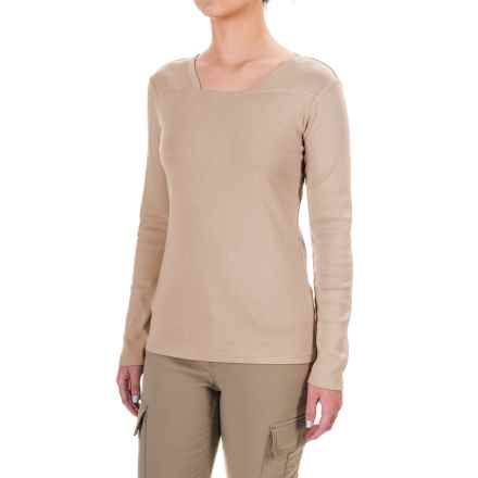Royal Robbins Kick Back Square Neck Shirt - UPF 50+, Long Sleeve (For Women) in Oatmeal - Closeouts