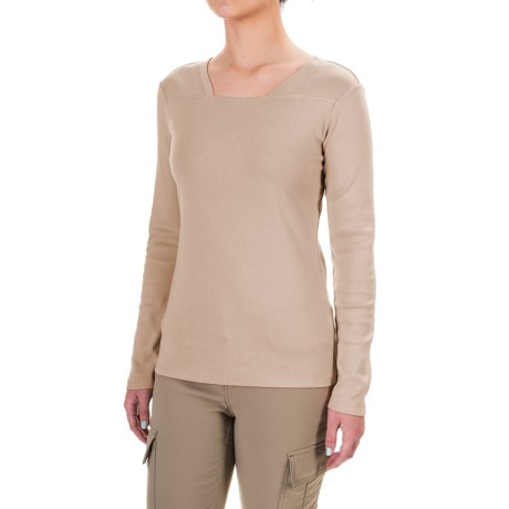Royal Robbins Kick Back Square Neck Shirt - UPF 50+, Long Sleeve (For Women) in Oatmeal