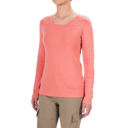Royal Robbins Kick Back Square Neck Shirt - UPF 50+, Long Sleeve (For Women) in Petal - Closeouts