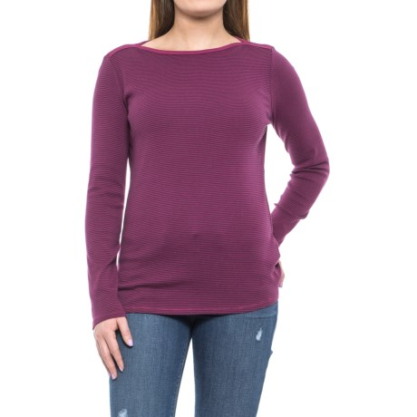 Royal Robbins Kick Back Striped Boat Neck Shirt - UPF 50+, Long Sleeve (For Women) in Potent Purple