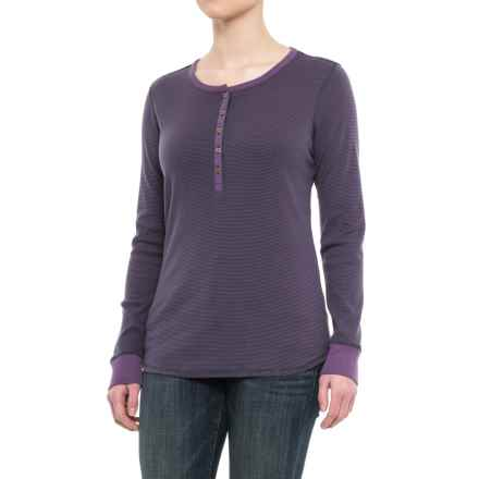 Royal Robbins Kick Back Striped Henley Shirt - UPF 50+, Long Sleeve (For