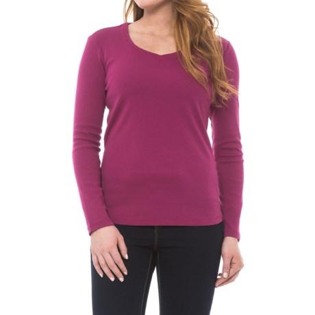 Royal Robbins Kick Back Sweet Shirt - UPF 50+, Long Sleeve (For Women) in Raspberry Cream