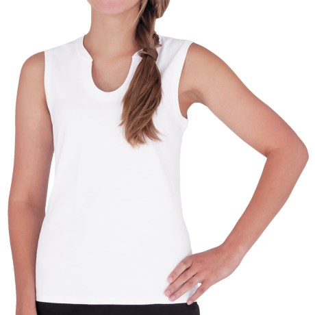 Royal Robbins Kick Back Tank Top - UPF 50+, Sleeveless (For Women) in White