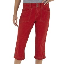 Royal Robbins Kick It Capris - UPF 50+, Stretch Cotton Canvas (For Women) in Dark Crimson - Closeouts