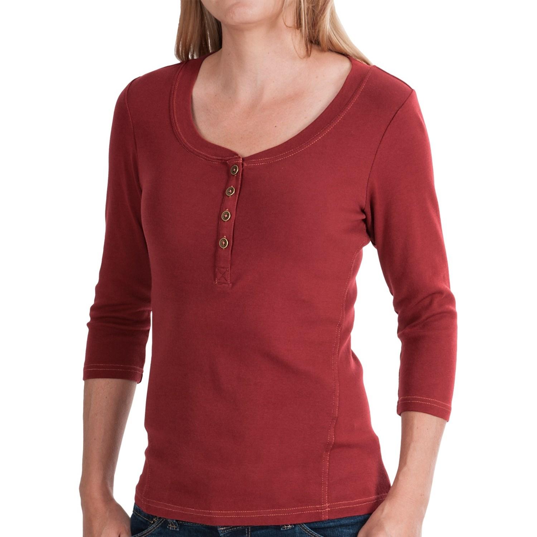 Royal robbins kickback micro rib henley shirt for women for 3 4 henley shirt