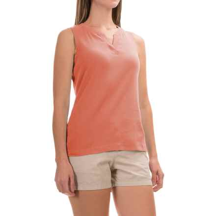 Royal Robbins Kickback Micro-Rib Tank Top - UPF 50+ (For Women) in Persimmon - Closeouts