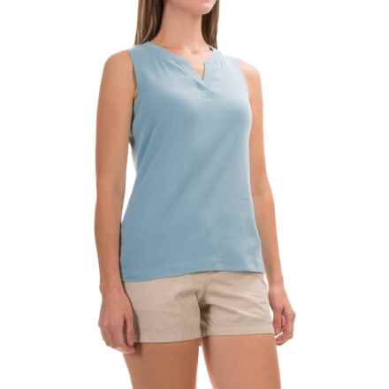 Royal Robbins Kickback Micro-Rib Tank Top - UPF 50+ (For Women) in Rain - Closeouts